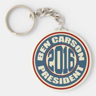 Ben Carson President 2016 Basic Round Button Key Ring