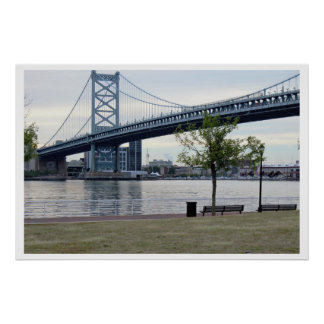 Ben Frankin Bridge Photo Poster