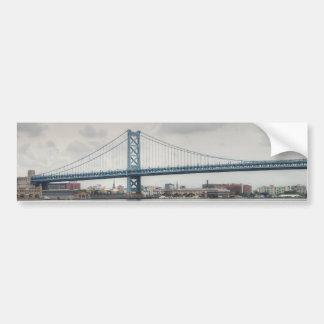 Ben Franklin Bridge Bumper Sticker