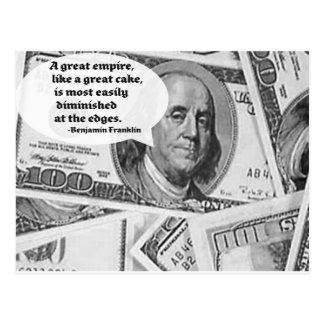 BEN FRANKLIN - GREAT EMPIRE QUOTE POSTCARD