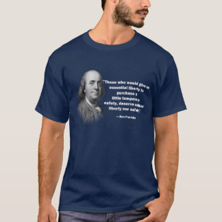 Ben Franklin gun control quote - Men's Shirt