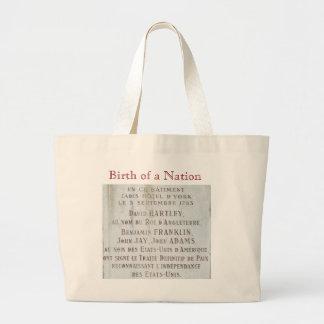 Ben Franklin, John Adams & John Jay close on USA Jumbo Tote Bag