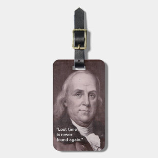 Ben Franklin Luggage Tag