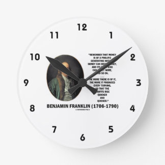 Ben Franklin Money Prolific Generating Nature Wall Clocks