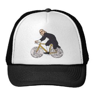 Ben Franklin On A Bike With Half Dollar Wheels Cap