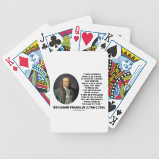 Ben Franklin Opinions Influences Effects Quote Poker Deck
