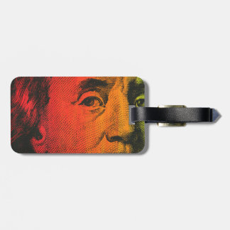 Ben Franklin Portrait- Painting & Silkscreen Luggage Tag