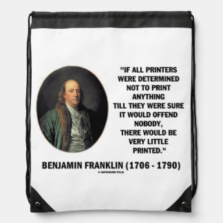 Ben Franklin Printers Very Little Printed Quote Backpacks