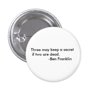 Ben Franklin quote button