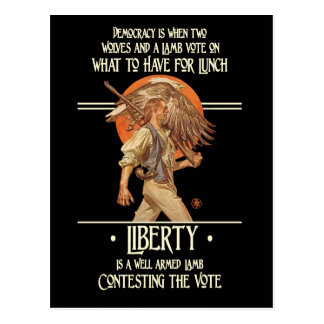 Ben Franklin Quote: Well Armed Lamb Postcard