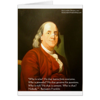 Ben Franklin (What Is Wise) Quote Gifts & Cards