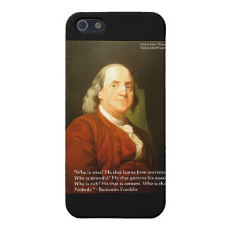 Ben Franklin (What Is Wise) Quote Gifts & Cards Case For iPhone 5/5S