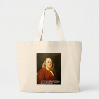 Ben Franklin (What Is Wise) Quote Gifts & Cards Jumbo Tote Bag