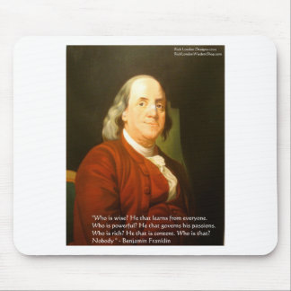 Ben Franklin (What Is Wise) Quote Gifts & Cards Mouse Pad