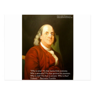 Ben Franklin (What Is Wise) Quote Gifts & Cards Postcard