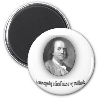 Ben Franklin with Quote Refrigerator Magnet