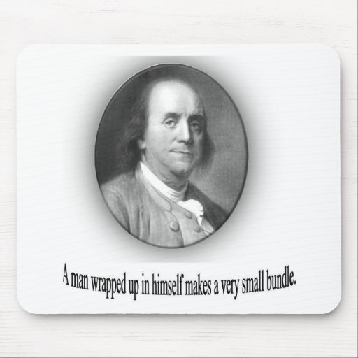 Ben Franklin with Quote Mousepad