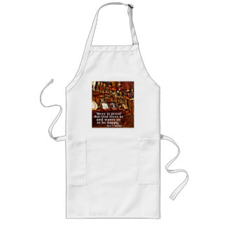 Ben Franklin's Famous Beer Quote Long Apron
