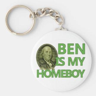 Ben Is My Homeboy Basic Round Button Key Ring