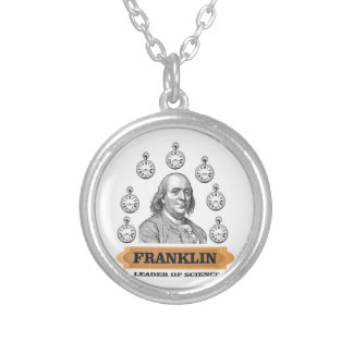 Ben Leader of science Silver Plated Necklace