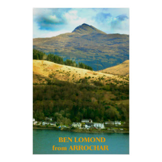 Ben Lomond from Arrochar, Scotland Poster