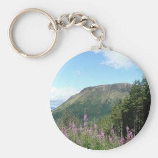 Ben Nevis Basic Round Button Key Ring