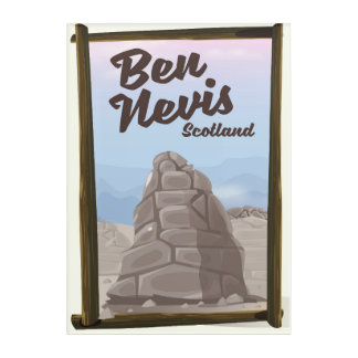 Ben Nevis Scotland travel poster Acrylic Wall Art