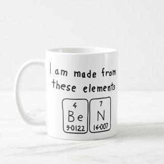 Ben periodic table name mug