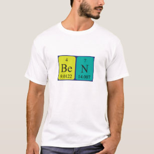 Chemical element t shirts shirt designs zazzle ben periodic table name shirt urtaz Image collections