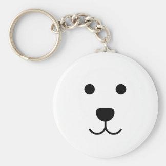 Ben the dog basic round button key ring