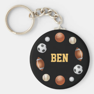 Ben World of Sports Keychain - Black