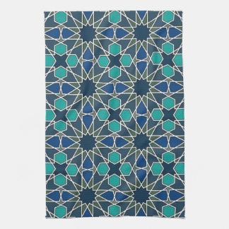 Ben Yusuf Madrasa Geometric Pattern 0-0-7 Tea Towel