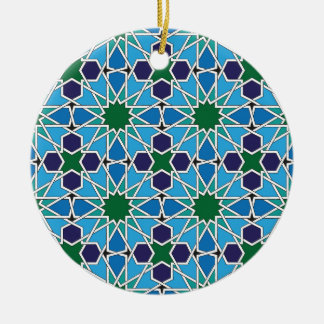 Ben Yusuf Madrasa Geometric Patterrn 10 Ceramic Ornament
