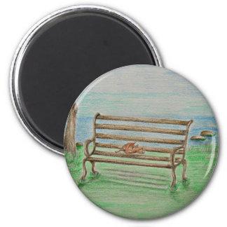 Bench 6 Cm Round Magnet