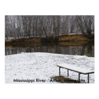 Bench at the Mississippi River Postcard