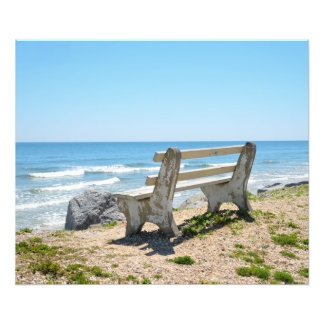 Bench Chair on the Beach Photo Print