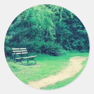 bench crossprocessbench classic round sticker