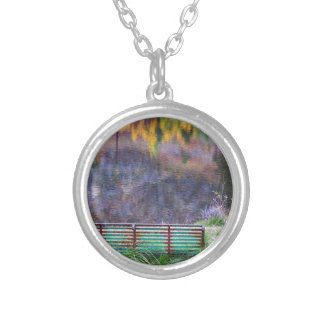 Bench For Day Dreaming Silver Plated Necklace
