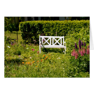 Bench for Two Greeting Card