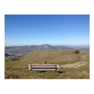 Bench in the Sky Mountain View Postcard