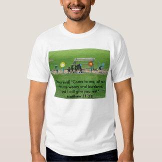 Bench, Matthew 11:28 T-shirts