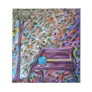 Bench on a Windy Day Notepad