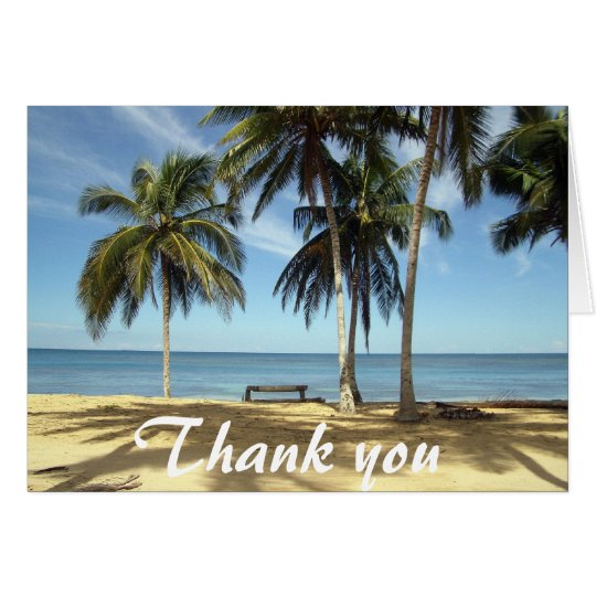 Bench on Beach Thank You Card