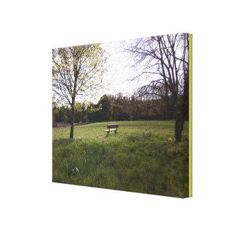 Bench on Cotmandene Canvas Print