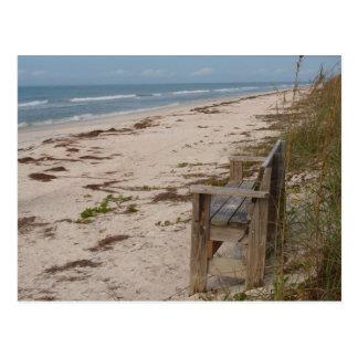 Bench on the Beach Postcard