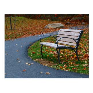 Bench on the Walk 2 Postcard