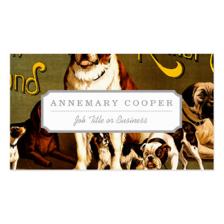 Bench Show. New England Kennel Club Pack Of Standard Business Cards