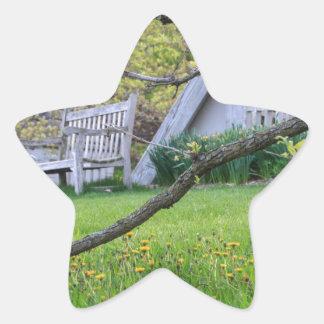 Bench Through The Trees Star Sticker