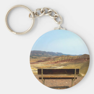 Bench View at Painted Hills Overlook Oregon Key Ring