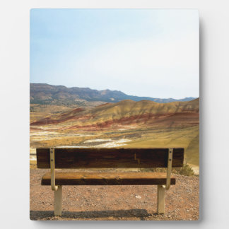 Bench View at Painted Hills Overlook Oregon Plaque